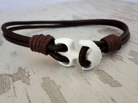Handmade Bracelet  Anchor Bracelet  sailor style  Roper