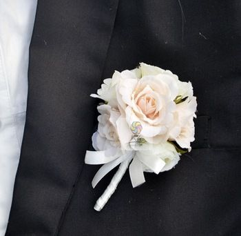 Fleur veste homme + bracelet fleur femme