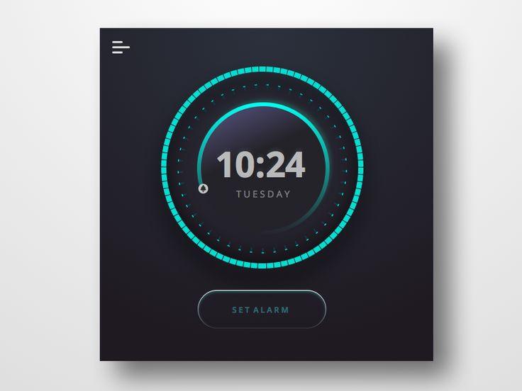 Alarm Clock Widget sketchapp.