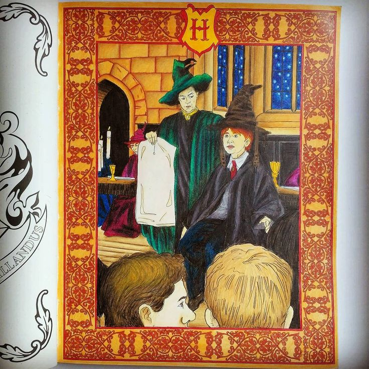 Done Johannabasford Harrypotter Harrypottercolouringbook Adultcoloring Coloringbook Coloredpencils