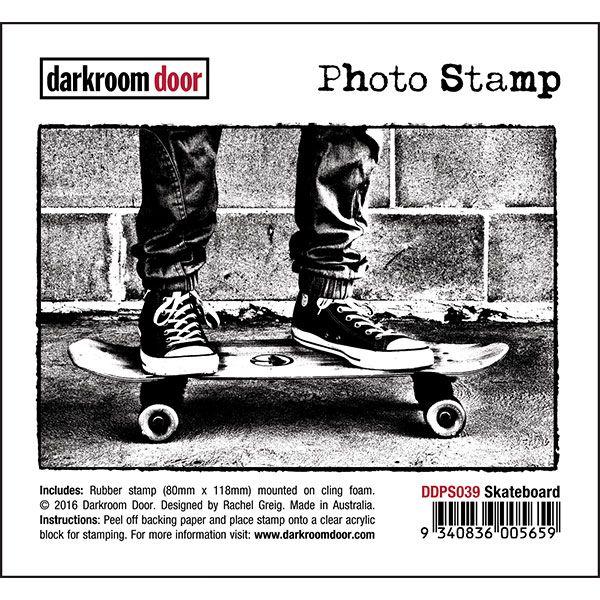 Darkroom Door Photo Stamp - Skateboard