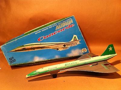 Extremely RARE 70's Greek Lyra Tin Litho Batt Op Concorde Alitalia NMIB