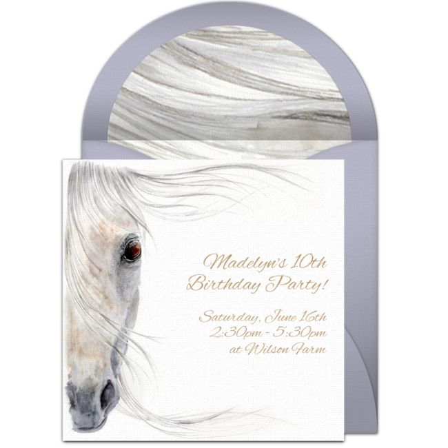 Customizable, free Beautiful Horse online invitations. Easy to personalize and…