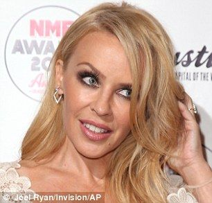 Ageless! Kylie Minogue was looking remarkably youthful at the NME Awards in London on Wednesday