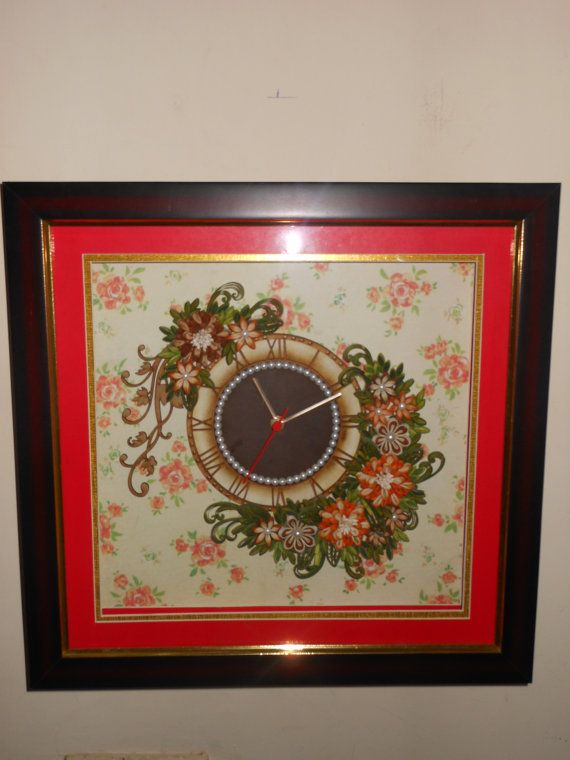 handmade Quilled Wall Clock by CreationsExplored on Etsy