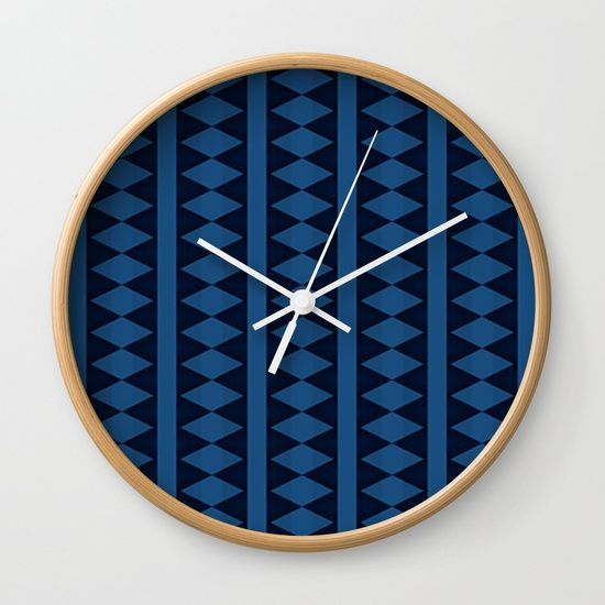 Seamless Pattern Wall Clock