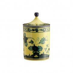 Ri.Ginori_Oriente Italiano Citrino - Svícen se svíčkou 10 cm
