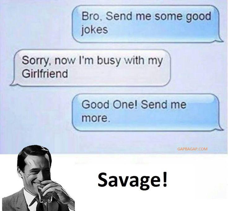 Hilarious Text About Jokes vs. Girlfriend