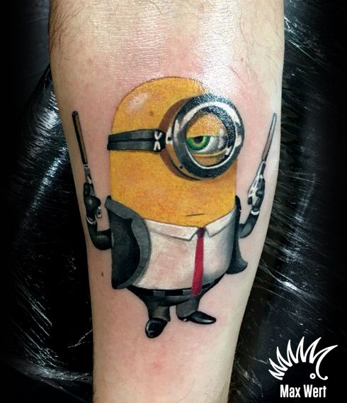 Minion tattoo by Max Wert kipodd@gmail.com