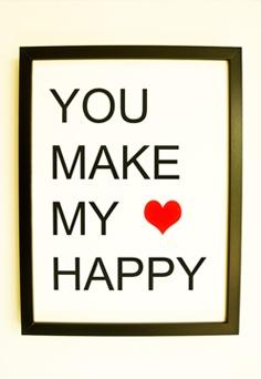 : Heart Happy, Wedding Signage, Signage Kids, Daughters Room, Art Prints, My Heart, Happy Art