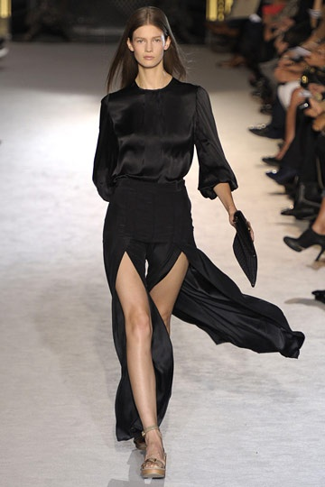 I would stitch up the openings about 12 inches, add some gold jewelry ... then, WOW! Stella McCartney