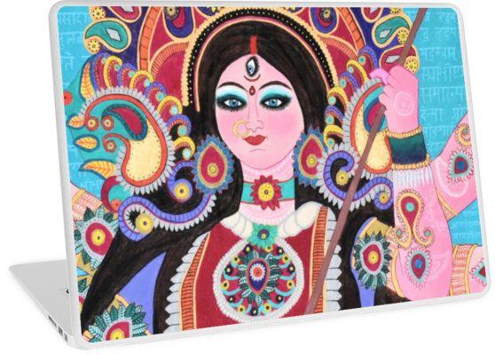 Durga Maa Hindu Goddess by KamakshiDasi. > Head to https://www.redbubble.com/people/kamakshidasi for more cool products by KamakshiDasi :)
