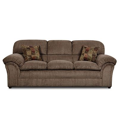 Simmons® Champion Mocha Sofa With Pillows at Big Lots. -- basement couch?? $350