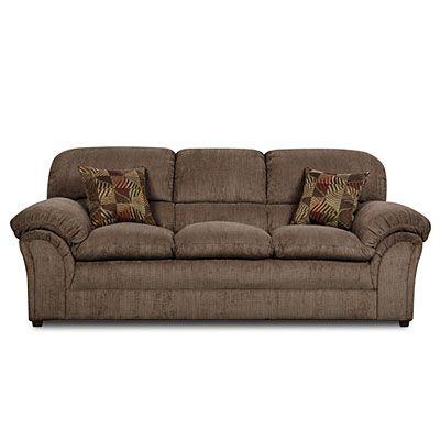 Simmons 174 Champion Mocha Sofa With Pillows At Big Lots
