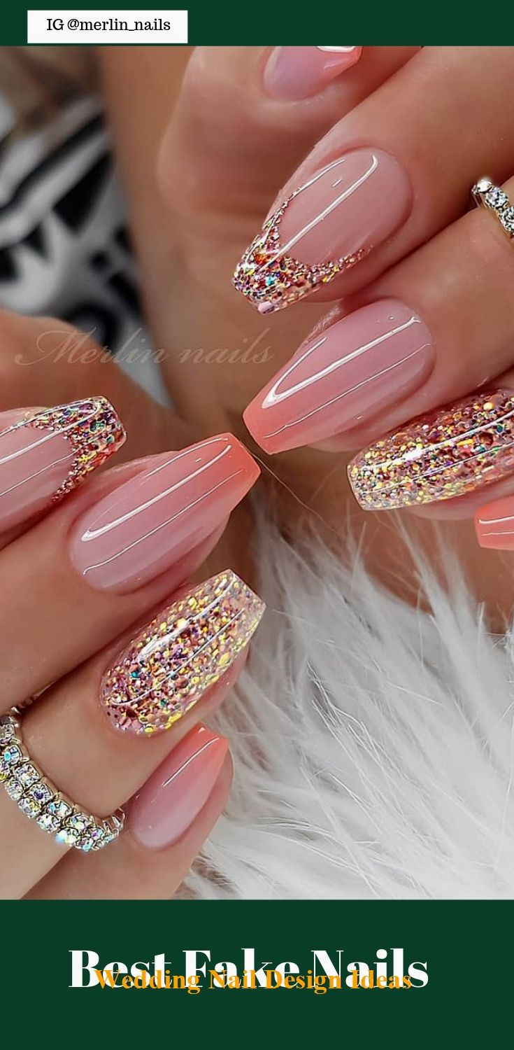 50 Pretty Best Fake Nails Easy 2019  – Great Wedding Nail Art