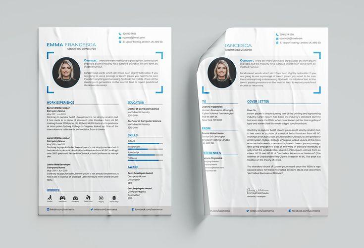 Simple Resume Cv Template With Portfolio On Behance In 2020 Simple Resume Cv Template Cv Resume Template