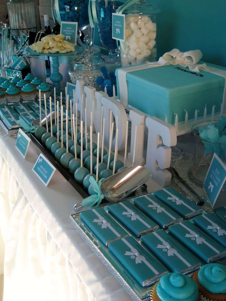 TIFFANY & CO Birthday Party Ideas | Photo 4 of 16 | Catch My Party                                                                                                                                                                                 More