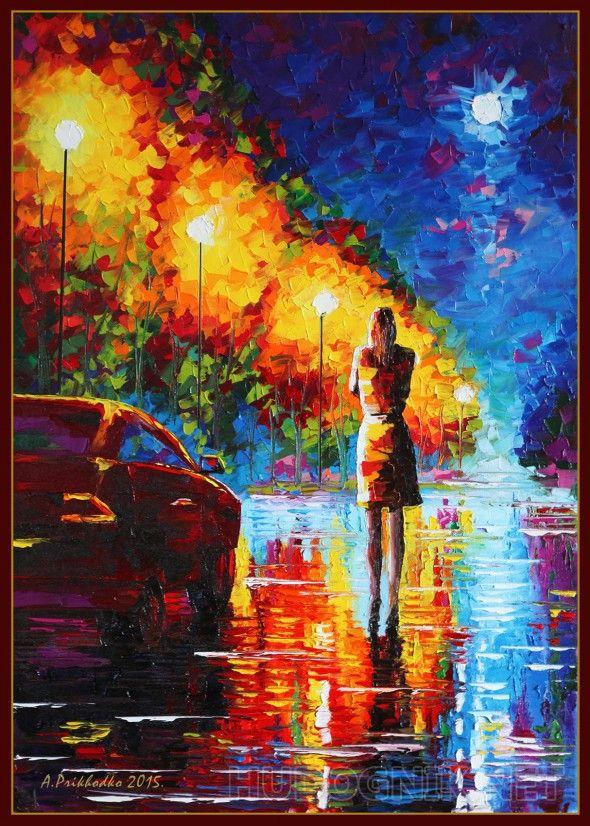 После бала одинокая девушка в дождливый вечер, поссорилась с парнем, ивозвращяется домой после дискотеки, проезжающие мимо машины предлогают подвести её ...