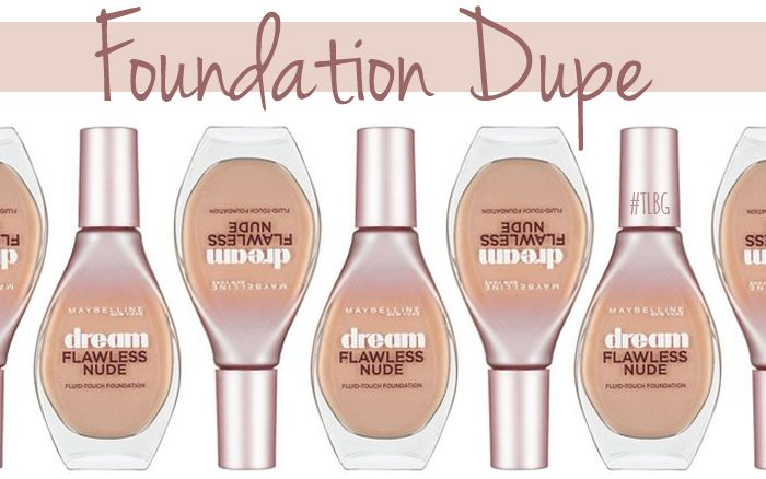 YSL Fusion Ink Foundation Dupe - Maybelline Dream Flawless Nude ...