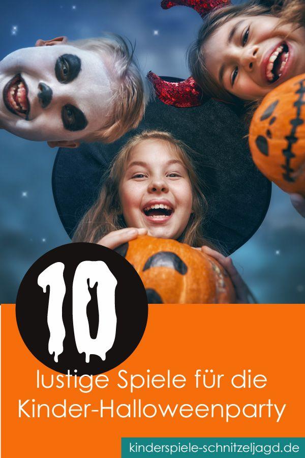 10 Lustige Spiele Fur Die Kinder Halloweenparty Halloween Kinderparty Spiele Halloween Party Spiele Halloween Party Kinder