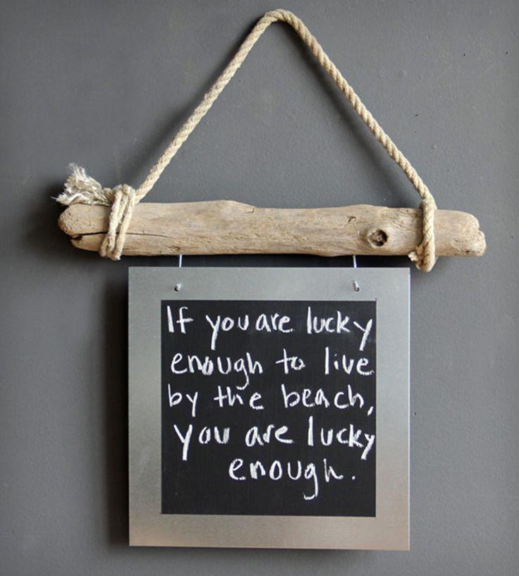 Driftwood Chalkboard Sign