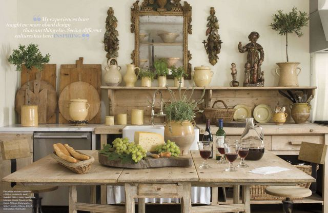 A beautiful melange of French finds.  xo--FleaingFrance: Verandas, Cut Boards, Interiors Design, Rustic Kitchens, Natural Wood, Jane Moore, Country Kitchens, Breads Boards, The Breads