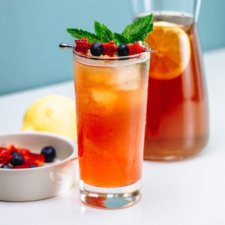 Bourbon Strawberry Iced Tea