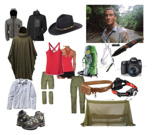 """""""Survival and B.G."""" by maria-f-engel on Polyvore featuring Rothco, Salomon, Deuter, Patagonia, ULTA, Gerber, Fjällräven, Eos and Stetson"""