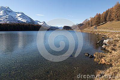 Wonderful lake in engadin switzerland