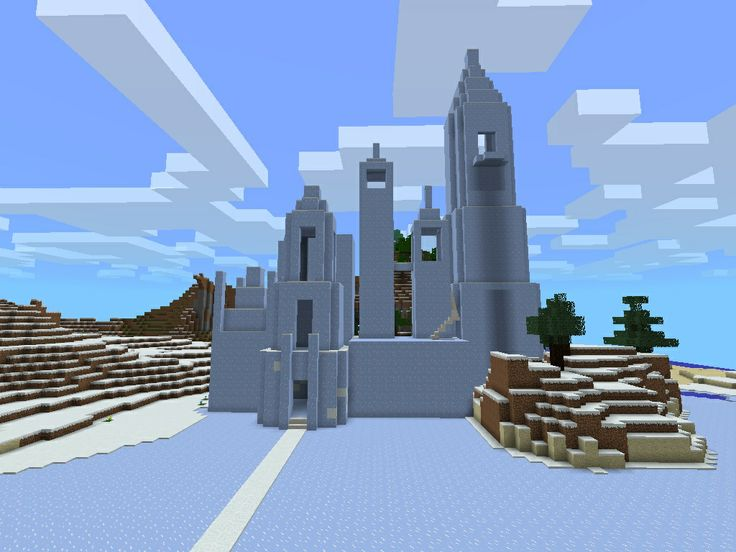 This is a ice palace I am currently making  Still in progress but it will  be EPIC when it s done  Hardest part was finding a seed to build it in. 50 best Minecraft PE Seeds images on Pinterest   Minecraft ideas