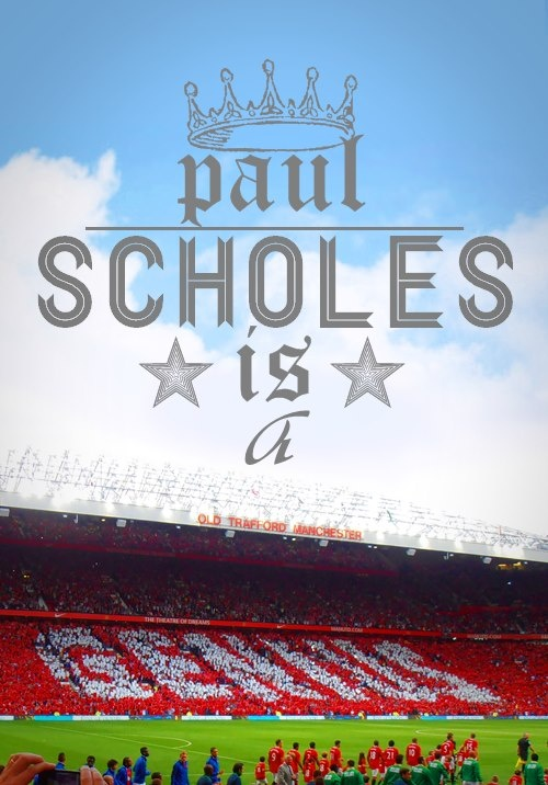 Nice one by MUFC fans  #Scholesy