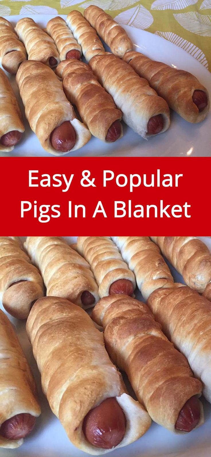 Pigs In A Blanket Recipe - super easy and everyone loves them! | MelanieCooks.com
