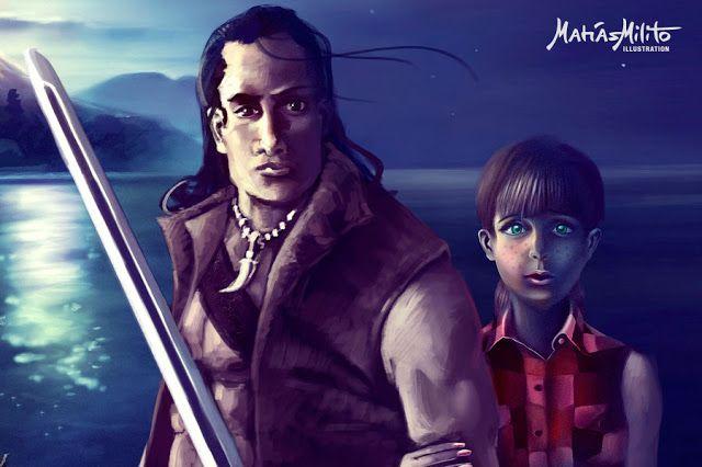 Ilustracion para un libro de Aventuras/ Illustration for a book cover