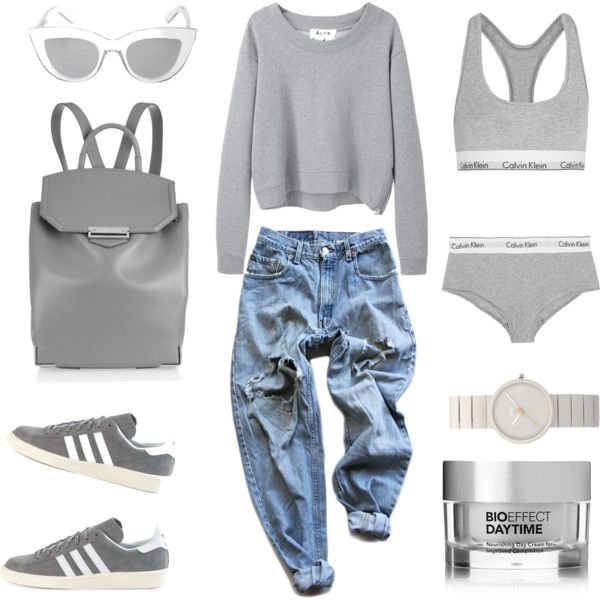Week End by fashionlandscape on Polyvore featuring Mode, Acne Studios, Levi's, Calvin Klein Underwear, adidas, Alexander Wang, Braun, BCBGMAXAZRIA and Bioeffect