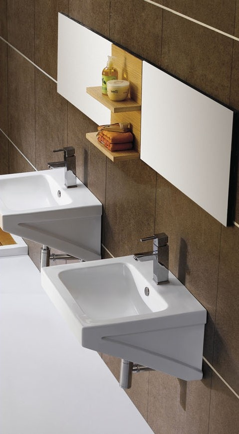 the fresia porcelain modern wall mount sink is the leading design for any modern bathroom