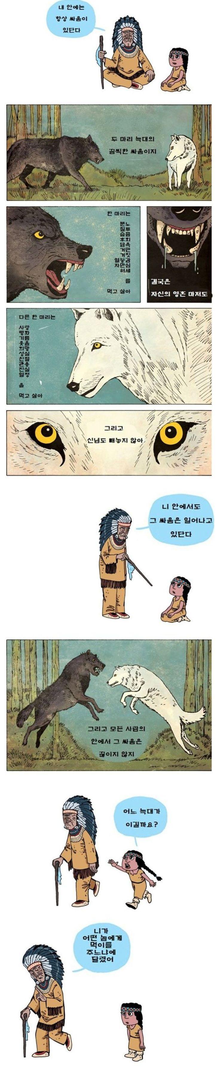 두마리 늑대