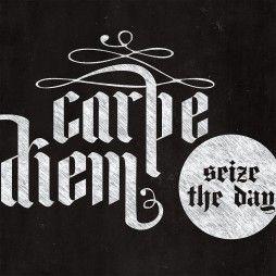 Carpe Diem Chalkboard Art Canvas Print