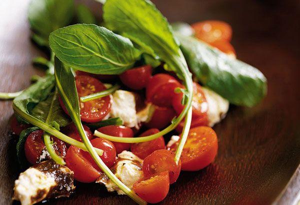 Arugula Salad with baked ricotta
