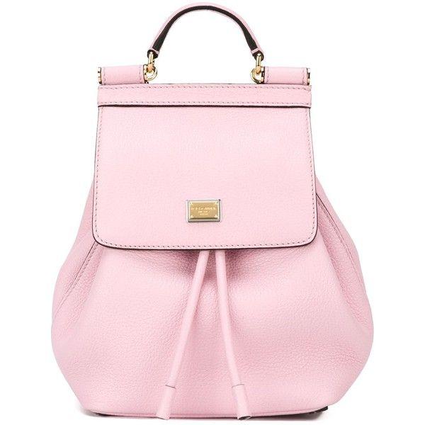 Dolce & Gabbana 'Sicily' backpack ($1,255) ❤ liked on Polyvore featuring bags, backpacks, dolce gabbana bag, top handle bag, hardware bag, knapsack bags and backpack bag
