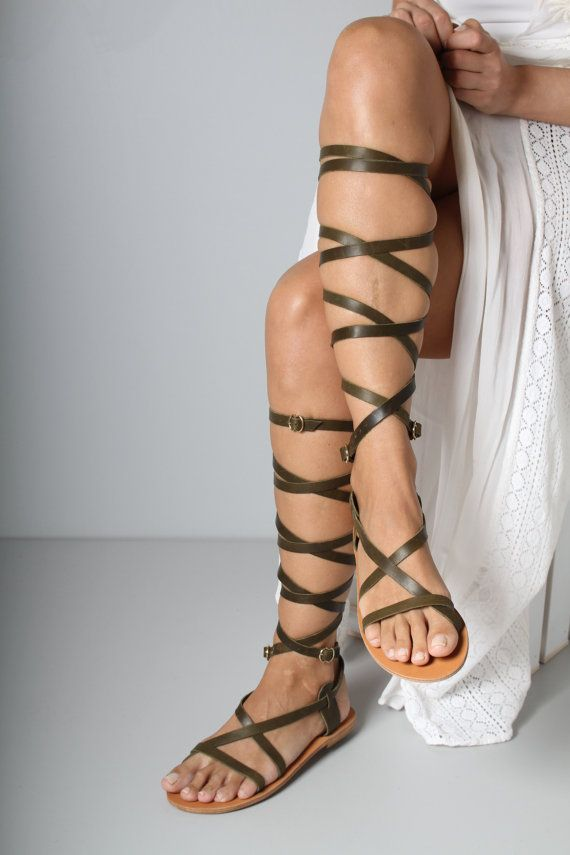 Strappy Gladiator Sandal Greek Gladiator by TheMerakiCompany