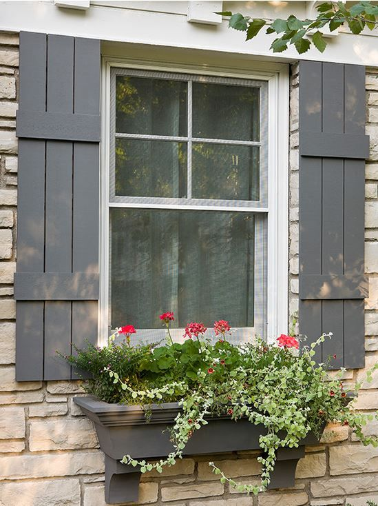 25 best ideas about window shutters on pinterest wood for Cottage style exterior shutters