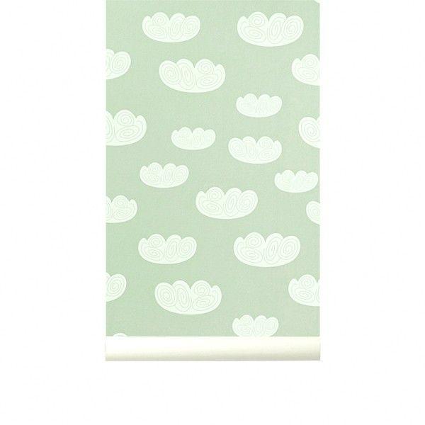 Cloud wallpaper - mint