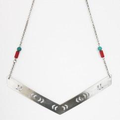 Delikli Bumerang Kolye - #tasarim #tarz #gumus #rengi #moda #hediye #ozel #nishmoda #silver #colored #design #designer #fashion #trend #gift