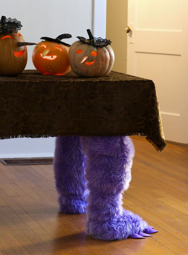 halloween decorating ideas monster table legs