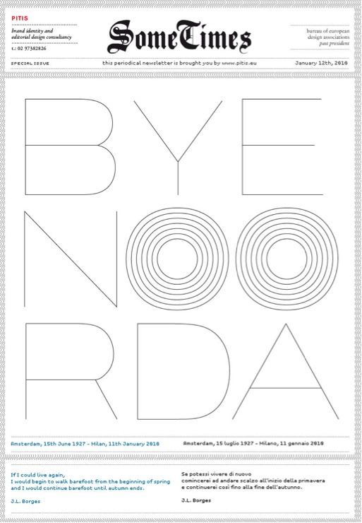 N°16/ Bye Noorda
