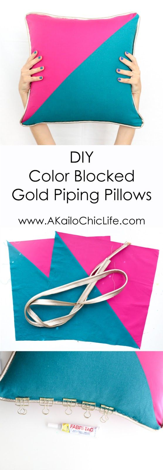 Sew It - Color Blocked Triangle Pillows