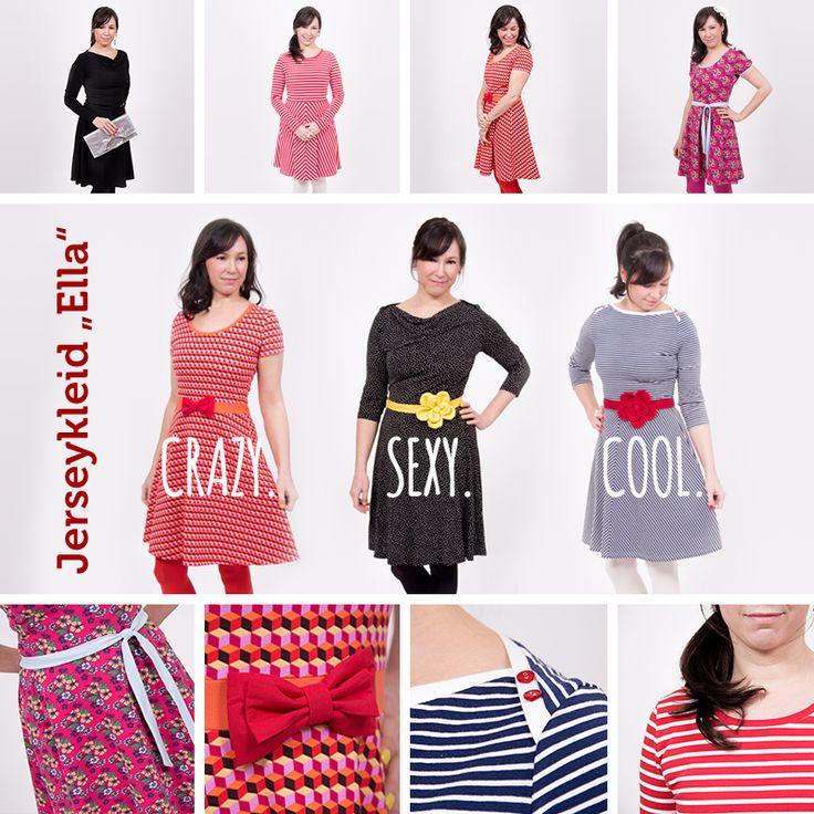 Ob sportlich, romantisch oder elegant - das Jerseykleid Ella kannst du ...