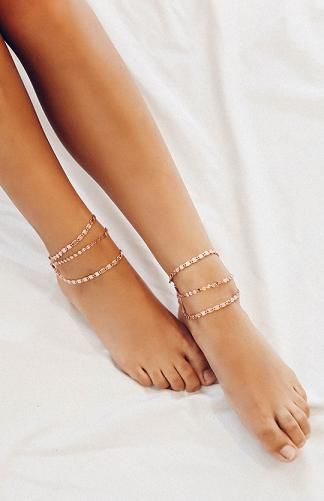 Venice Anklet Set - Rose Gold