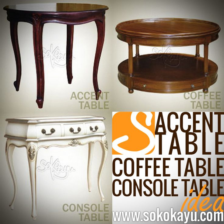#Handmade #MahoganyFurniture idea of Accent Table, Coffee Table and Console Table for your #LivingroomFurniture