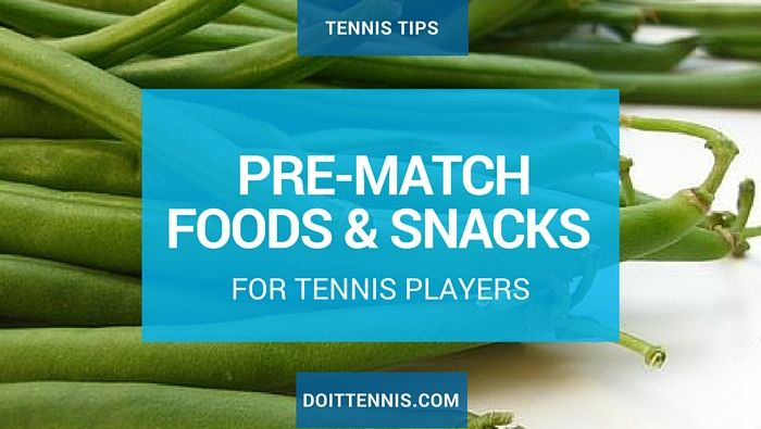 Don't wait until the day of your match to figure this  out, use lesson and practice time to experiment with your best pre-match eating habits.